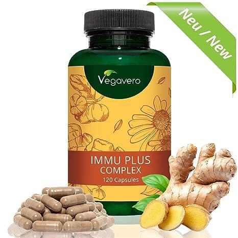 Immu Plus Complex: Vitamina C + Vitamina D3 + Jengibre + Equinácea + Selenio +