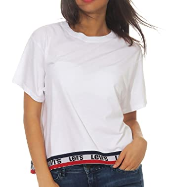 Levis Camiseta Mujer - Graphic J.V. Tee Tape White Graphic - 39389-0028 (XS