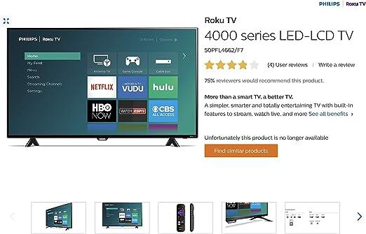 QINYUN - Mando a Distancia para televisor Philips Serie 4000 (LED ...