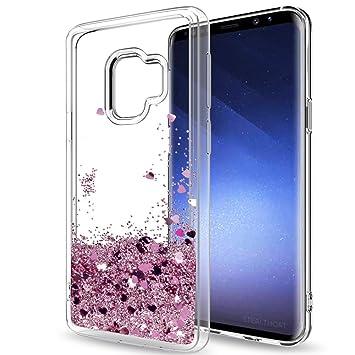 LeYi Funda Samsung Galaxy S8 Silicona Purpurina Carcasa con HD Protectores de Pantalla,Transparente Cristal Bumper Telefono Gel TPU Fundas Case Cover ...