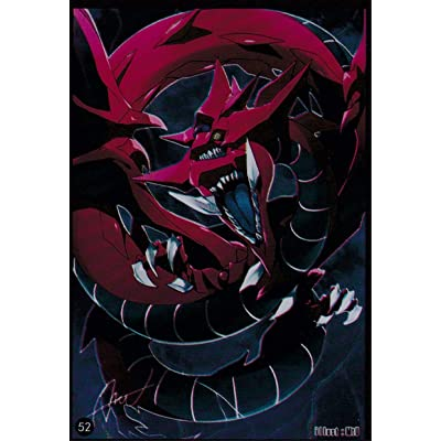 (100) Yu-Gi-Oh Small Size Slifer The Sky Dragon Card Sleeves #52 62x89 mm: Toys & Games