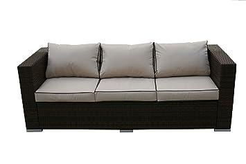 Amazon De Havana 3 Sitzer Sofa Rattan Gartenmobel Inkl