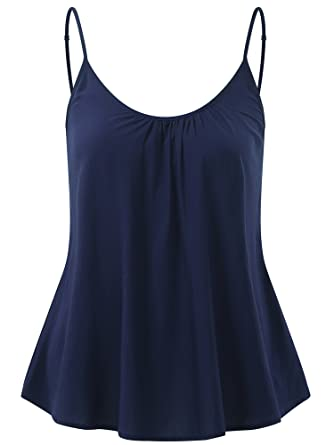 b61be8ee4ca5ee FENSACE Women s Sleeveless Nightgown Long Spaghetti Strappy Basic Tank Tops (18003-10