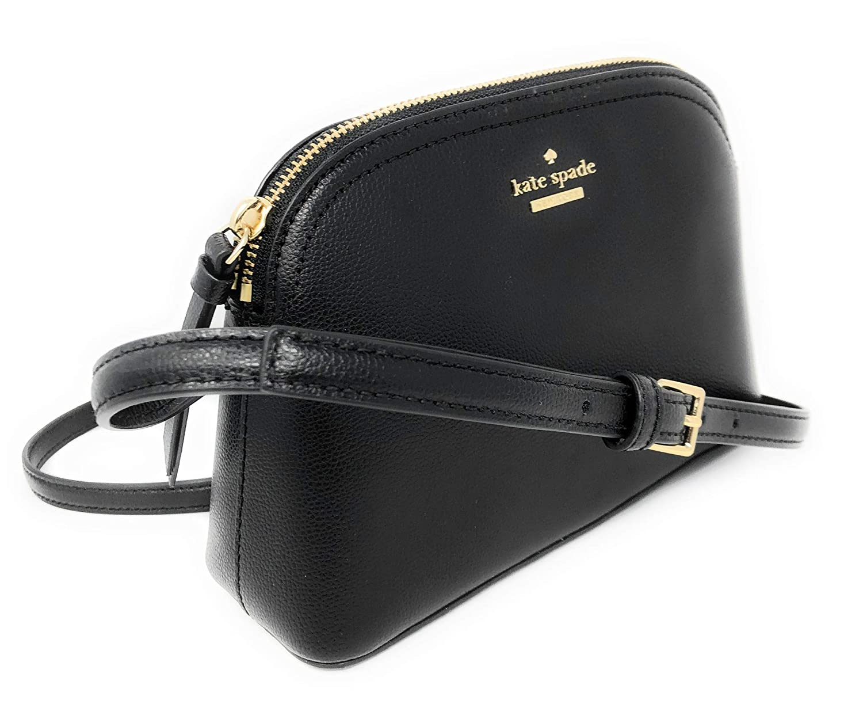 e1b8280d106c8 Amazon.com: Kate Spade Peggy Patterson Drive Leather Crossbody Bag Black:  Shoes