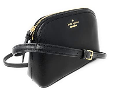 ea0a7a18d Amazon.com: Kate Spade Peggy Patterson Drive Leather Crossbody Bag Black:  Shoes