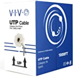 VIVO 1,000 ft bulk Cat5e Ethernet Cable / Wire UTP Pull Box 1,000ft Cat-5e Style Grey (CABLE-V001)