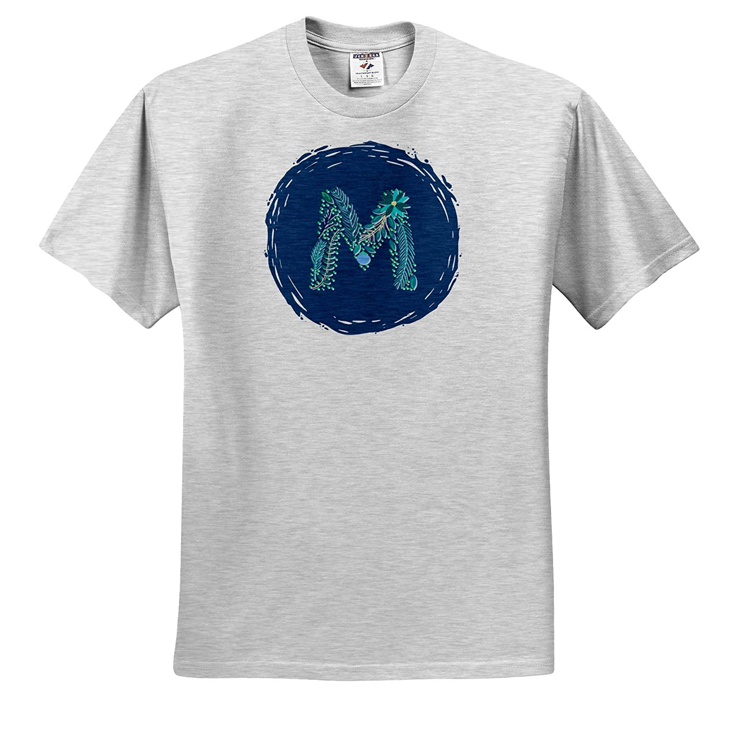 Image of Monogram Letter M 3dRose Carrie Image Quote ts/_317754 Adult T-Shirt XL