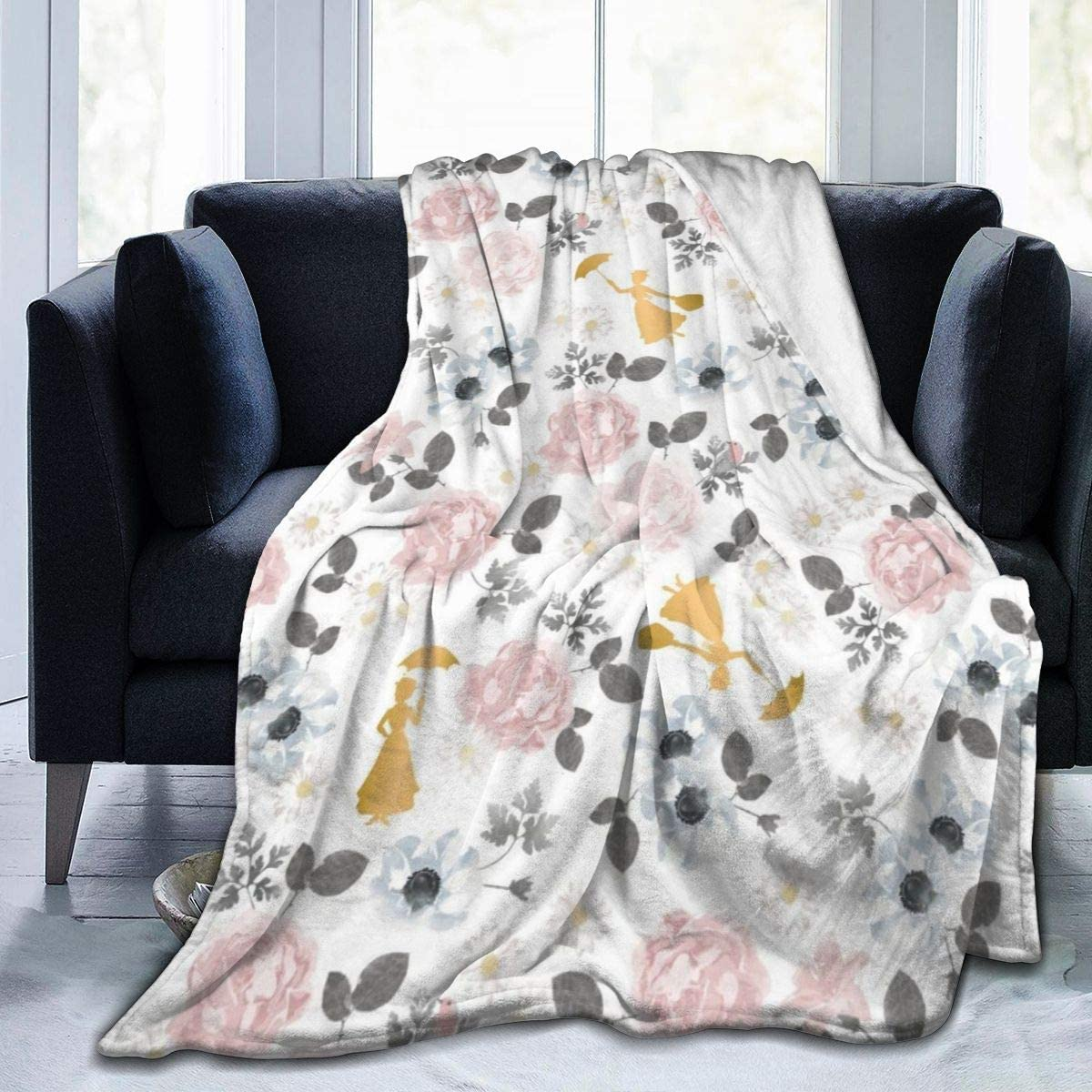 shirt home Camelot Fabrics Mary Poppins Flannel Fleece Throw Blanket Super Soft and Warm Fuzzy Plush Cozy Luxury Bed Blankets 60X50 Inch