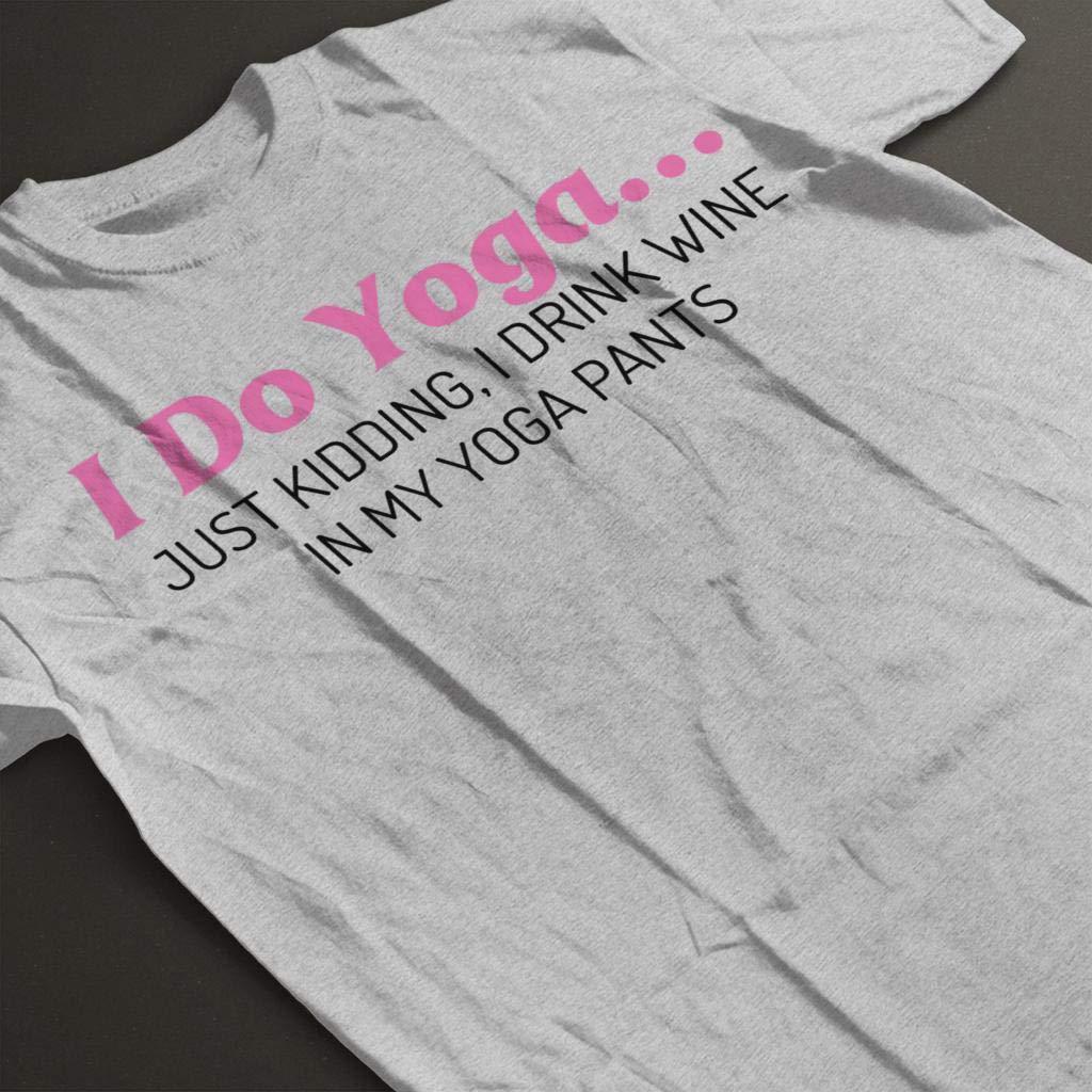 I Do Yoga Just Kidding I Drink Wine Kids T-Shirt