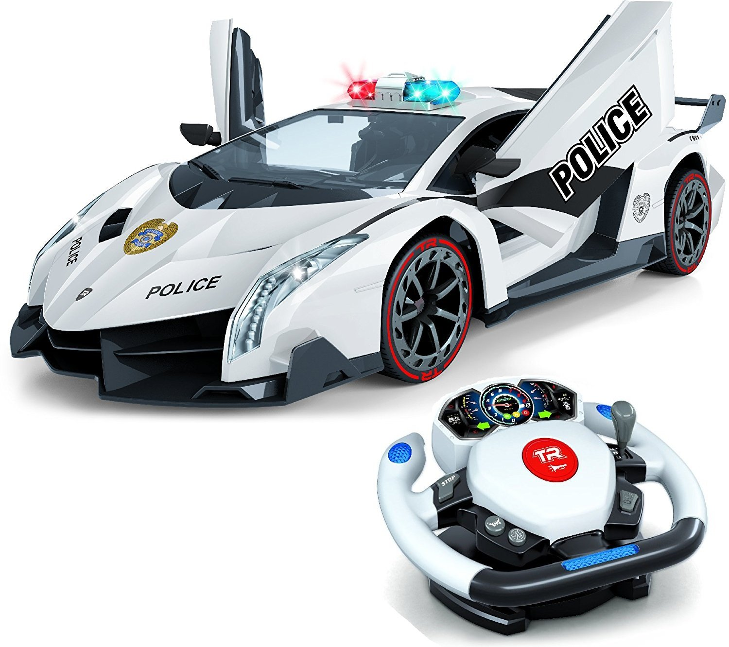 Amazon.com: Remote Control Police Car, 4D Motion Gravity and ...