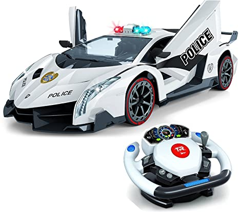 Remote Control Police Car D Motion Gravity And Steering Wheel Control