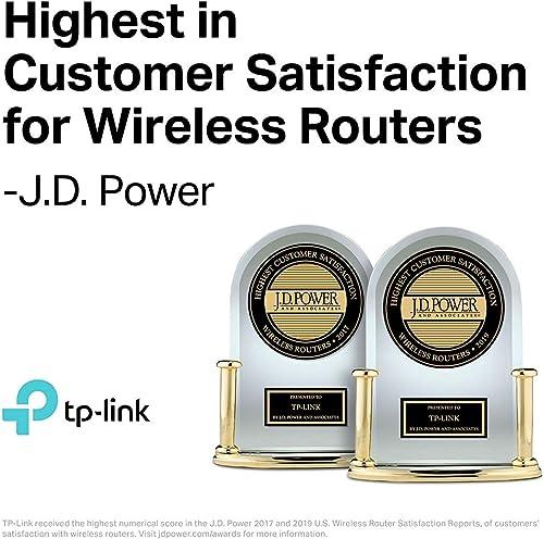 TP-Link AC4000 Smart WiFi Router – Tri Band Router , MU-MIMO, VPN Server, Antivirus Parental Control, 1.8GHz CPU, Gigabit, Beamforming, Link Aggregation, Rangeboost, Works with Alexa Archer A20 ,Black