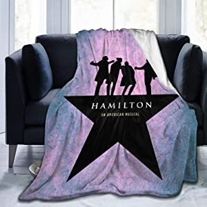 H-amilton Musical Micro Fleece Bed Flannel Blanket for Luxury Sofa Plush Anti-Pilling essential Blanket Super Cozy and Comfy Home Bedding Living Room (Hamilton-Musical-Blanket) (50