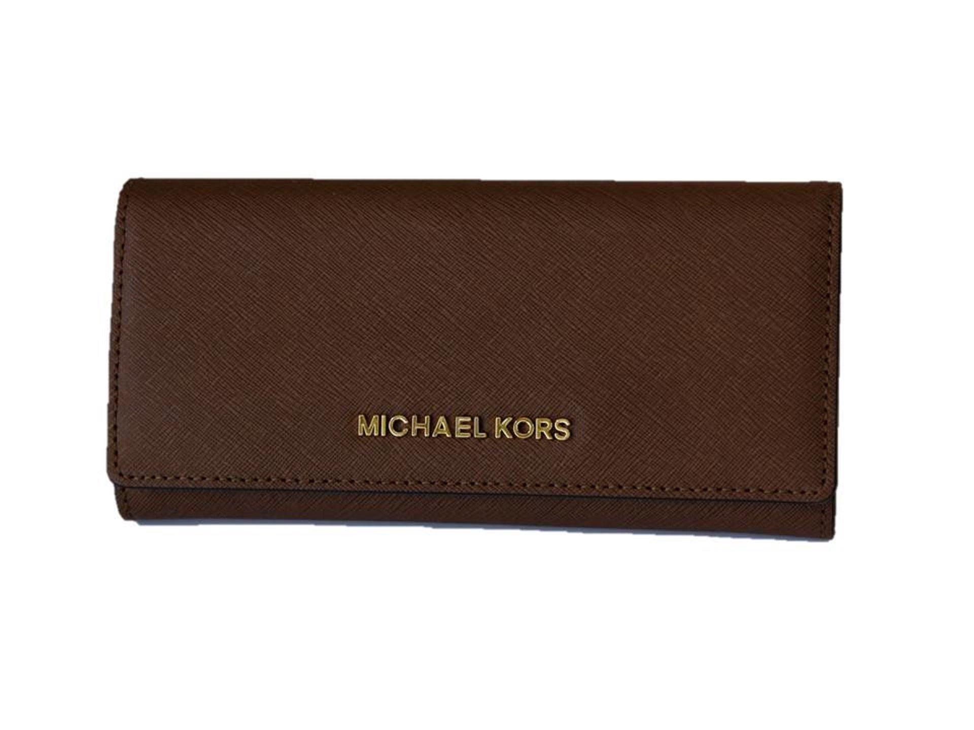 Michael Kors Jet Set Travel Saffiano Leather Carryall Wallet