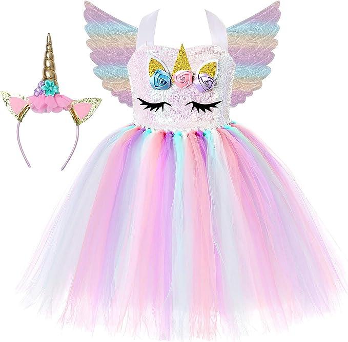 Amazon.com: Soyoekbt - Disfraz de unicornio con tutú para ...