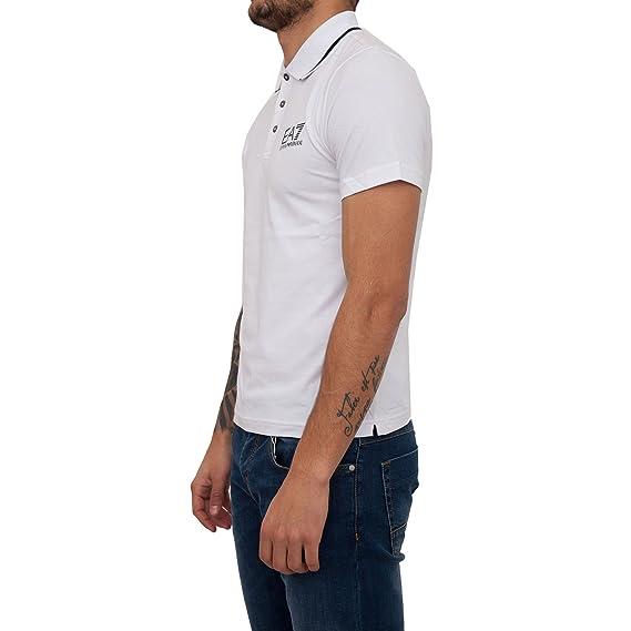 35be84d6 Emporio Armani, EA7 Polo Shirt in White (XXX-Large): Amazon.co.uk: Clothing