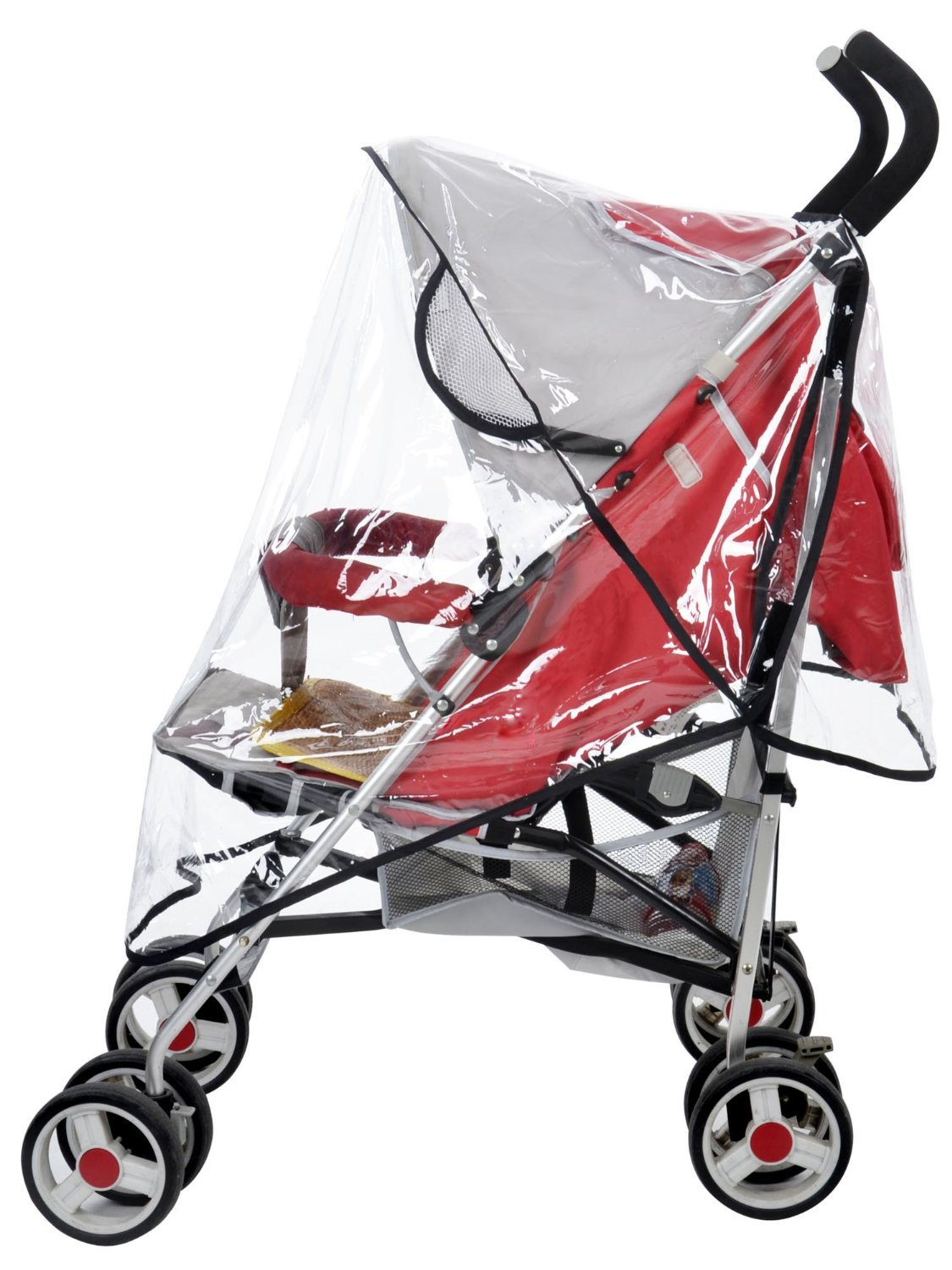 Universal Clear Waterproof Rain Cover Wind Shield Fit Most Strollers Pushchairs akezone