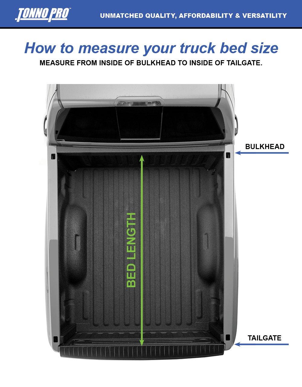 2500 HD 2015-2018 Silverado 2500 // GMC Sierra 2500 Tonno Pro Tonno Fold 42-108 TRI-FOLD Truck Bed Tonneau Cover 2014-2018 Chevrolet Silverado//GMC Sierra 1500 Fits 6.6 Bed