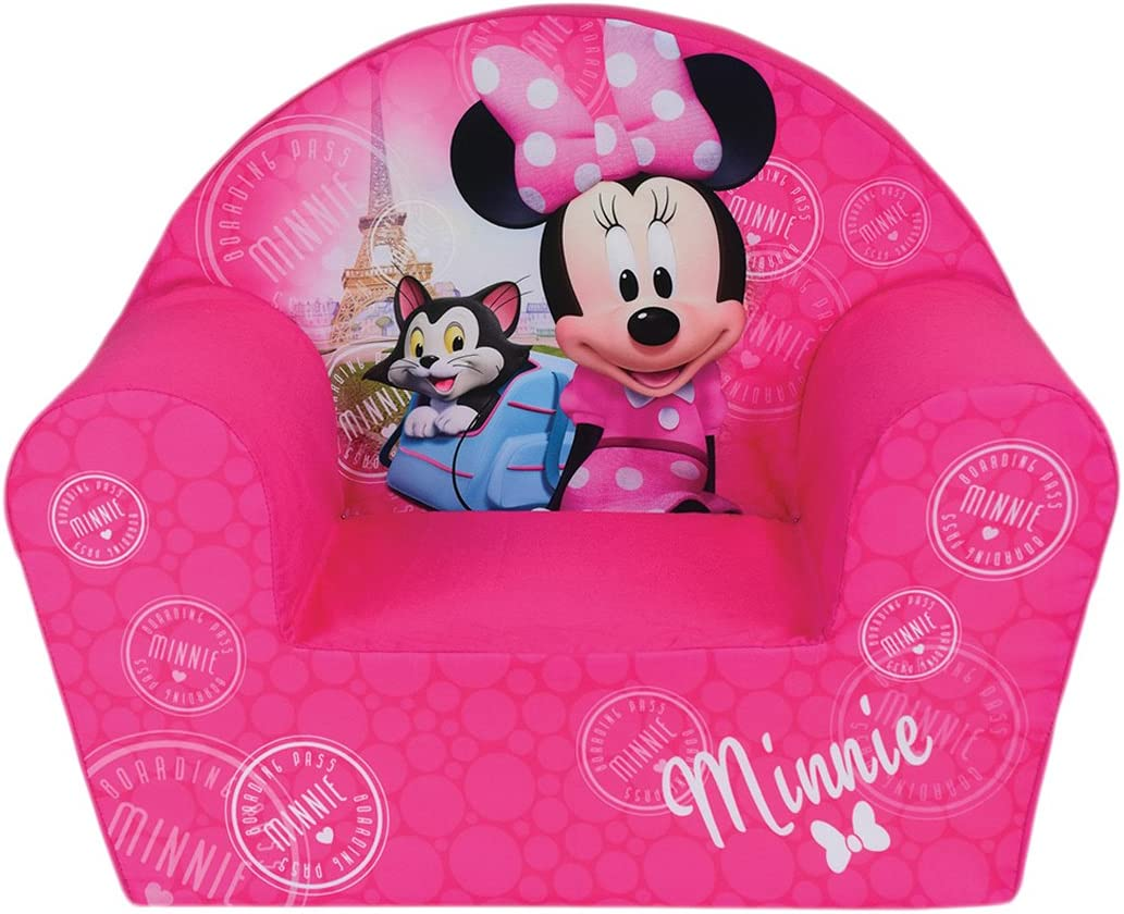 Silla para niños, minnie mouse Funda poliéster/Espuma Polyether, 52x 33x 42cm