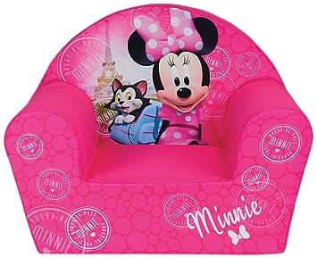 Fun House Disney miinie Paris Silla para niños, Funda poliéster/Espuma Polyether, 52 x 33 x 42 cm