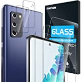 """【4 Pack】 Rhidon 2 Pack Tempered Glass Screen Protector for Samsung Galaxy S20 FE(6.5"""")+2 Pack Camera Lens Protector Tempered"""
