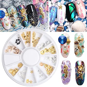 Amazon Fantasyday 3d Nail Art Rhinestone Sea Shell Sea Design