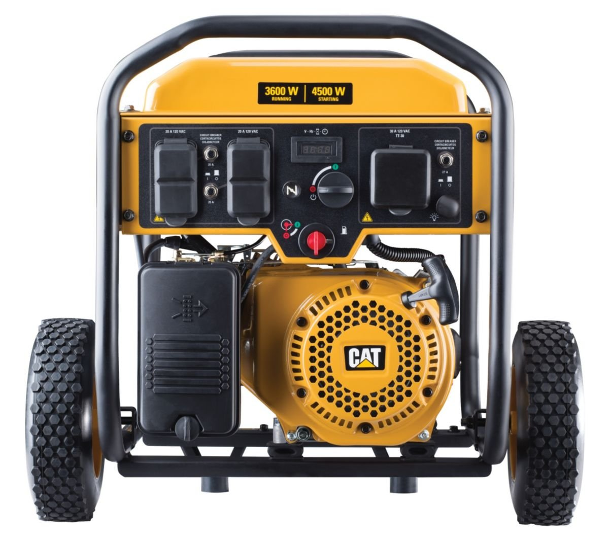 Cat Rp3600 3600 Running Watts 4500 Starting Gas 220 Volts A C Compressor And Cooling Fan Wiring Schematic Powered Portable Generator 490 6488 Garden Outdoor