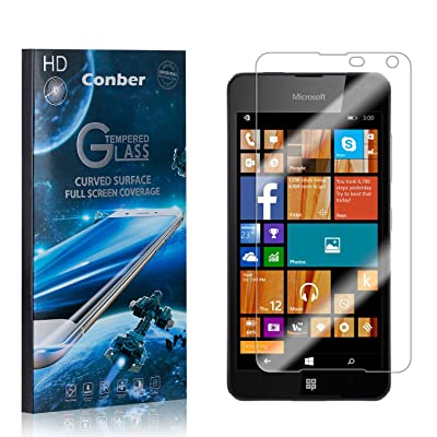 Conber (4 Pack) Screen Protector for Microsoft Lumia 650, [Scratch-Resistant][Anti-Shatter][Case Friendly] Premium Tempered Glass Screen Protector for Microsoft Lumia 650: Baby
