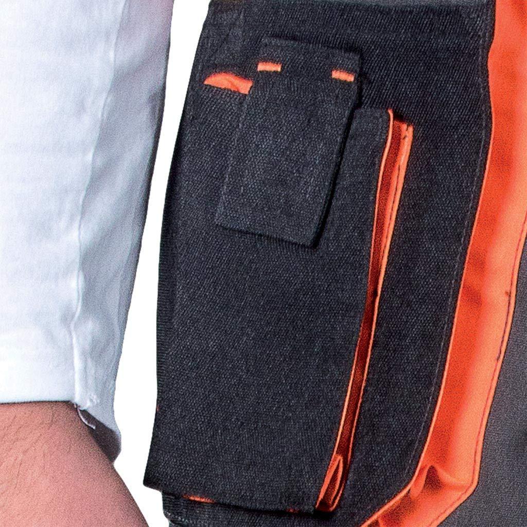 con Tasche per Ginocchiere Arbeitshose Leber/&Hollman Pantaloni da Lavoro Pantaloni Neri Multitasche da Uomo Estivi Elasticizzati