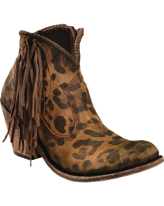 LIBERTY BLACK Women's Chita Miel Fringe Boot Round Toe - Lb712320chitamiel B01NBNJ0KA 7.5 B(M) US|Cheetah