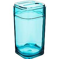 Porta Escova Splash 6,5 x 6,5 x 12,7 cm, Verde, Coza