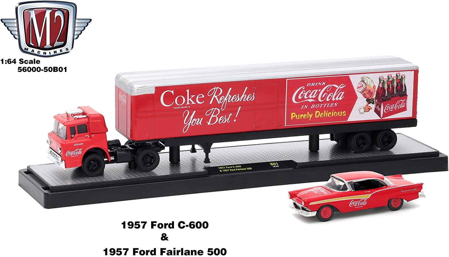 1956 FORD F100 PICKUP TRUCK COCA-COLA COKE RARE 1:64 SCALE DIECAST MODEL CAR