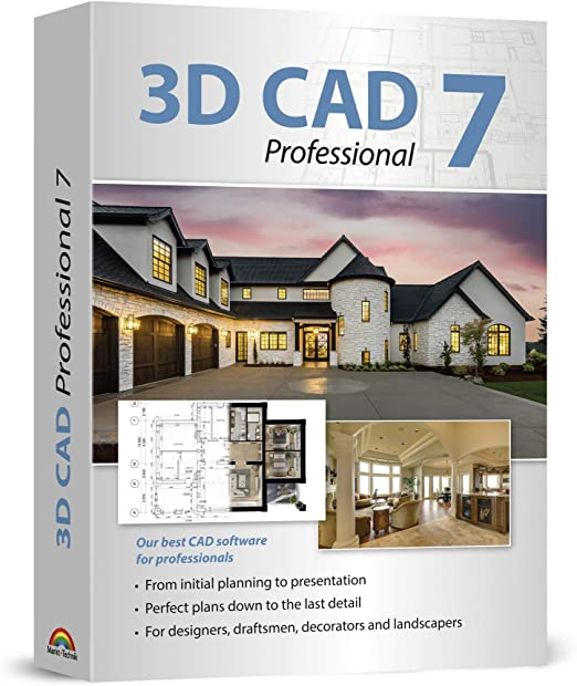 Amazon Com 3d Cad 7 Professional Plan Design Buildings From Initial Rough Sketches To The Finished Blueprints Cad And Architecture Software For Windows 10 8 1 7