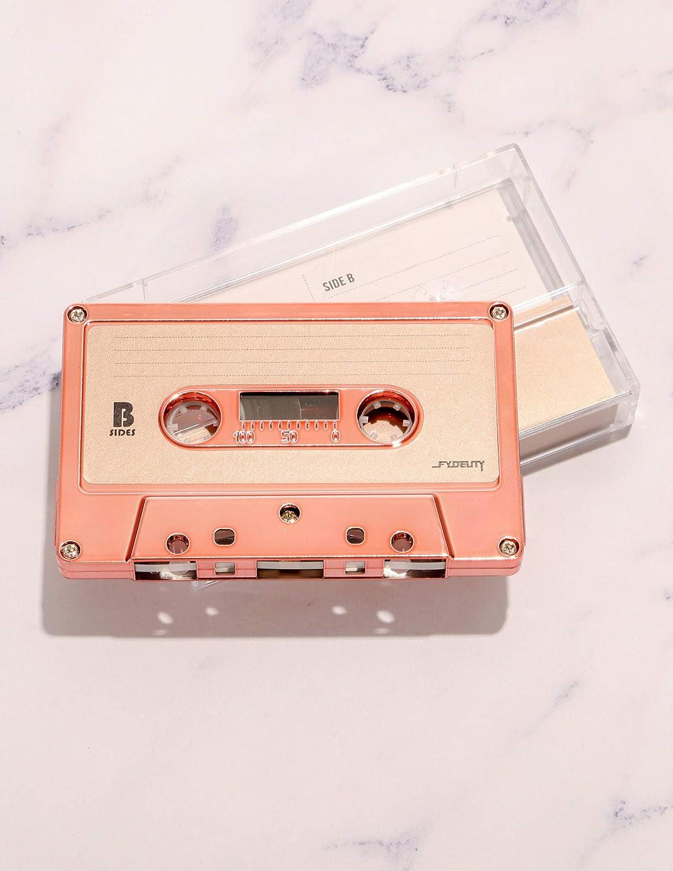 FYDELITY Blank Cassette Mixed Tape C-60 Audio 60-Min 10 Pack Rose Gold Chrome