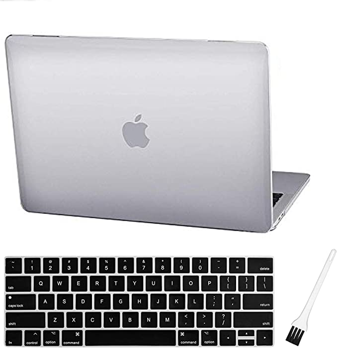MacBook Pro 13 Case Laptop Plastic Hard Shell Cover 2019 2018 2017 2016 Release A2159/A1989/A1706/A1708 with Silicone Keyboard Cover Compatible Mac Pro 13 Inch (Crystal Clear)