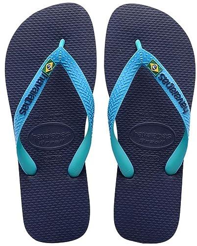 8b5d0b462ac7 Men Women Havaianas Flip Flops Brasil Mix -Navy Blue Turquoise ...