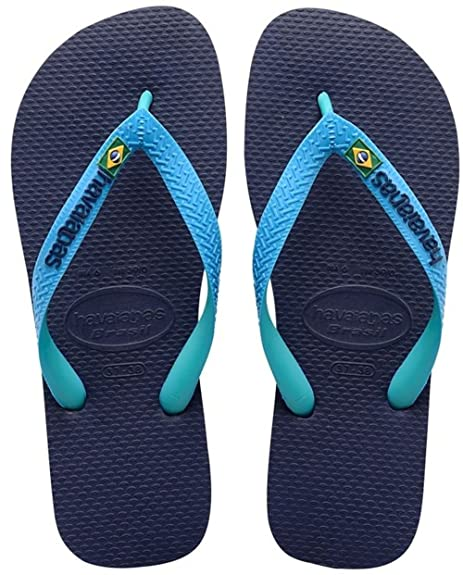32b344c87283ca Men Women Havaianas Flip Flops Brasil Mix -Navy Blue Turquoise  Amazon.co.uk   Shoes   Bags