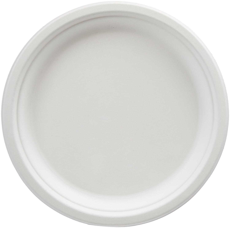 AmazonBasics 10-Inch Compostable Plates, 500-Count