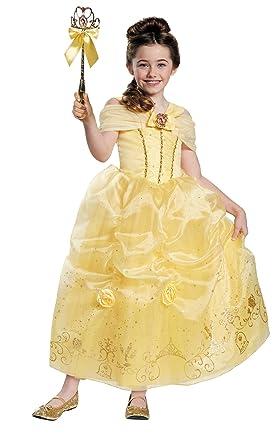 Disney Princess Girlsu0027 Belle Deluxe Costume Medium ...  sc 1 st  Amazon.com & Amazon.com: Disney Princess Girlsu0027 Belle Deluxe Costume Medium 7-8 ...