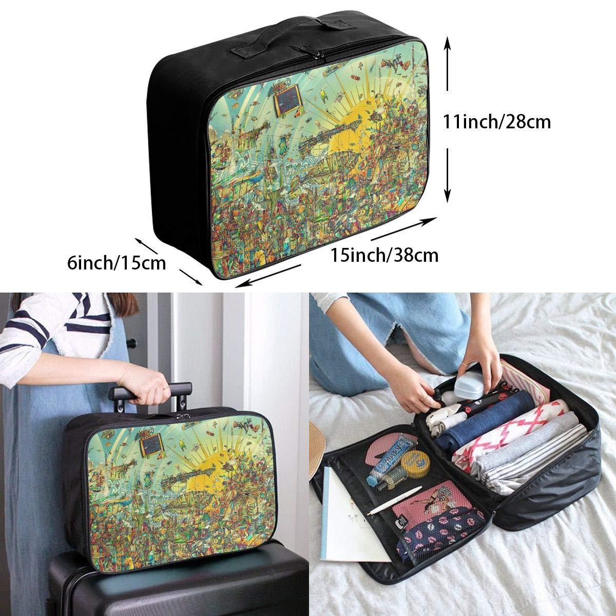 Travel Luggage Duffle Bag Lightweight Portable Handbag Abstract Print Large Capacity Waterproof Foldable Storage Tote