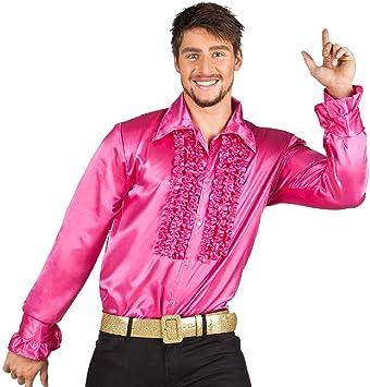 Boland- Disco Party Camisa, Color Fucsia, M (Ciao SRL BOL2136)