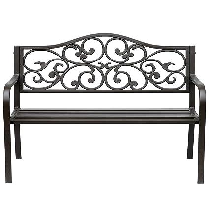 Prime Amazon Com Cast Iron Front Porch Bench Path Chair Seat Machost Co Dining Chair Design Ideas Machostcouk