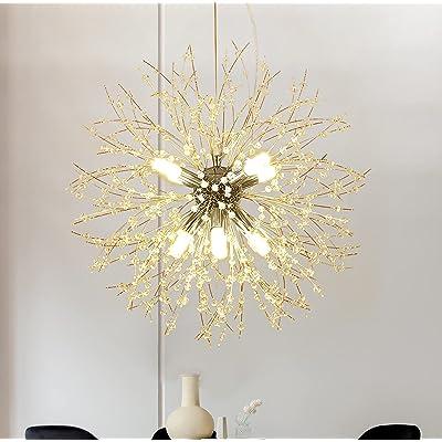Buy Qamra Modern Crystal Chandeliers Chrome Firework Dandelion Sputnik Chandelier Light Fixture Pendant Lighting For Living Room Dining Room Bedroom Kitchen 8 Light Chrome Online In Turkey B088lmzyl5