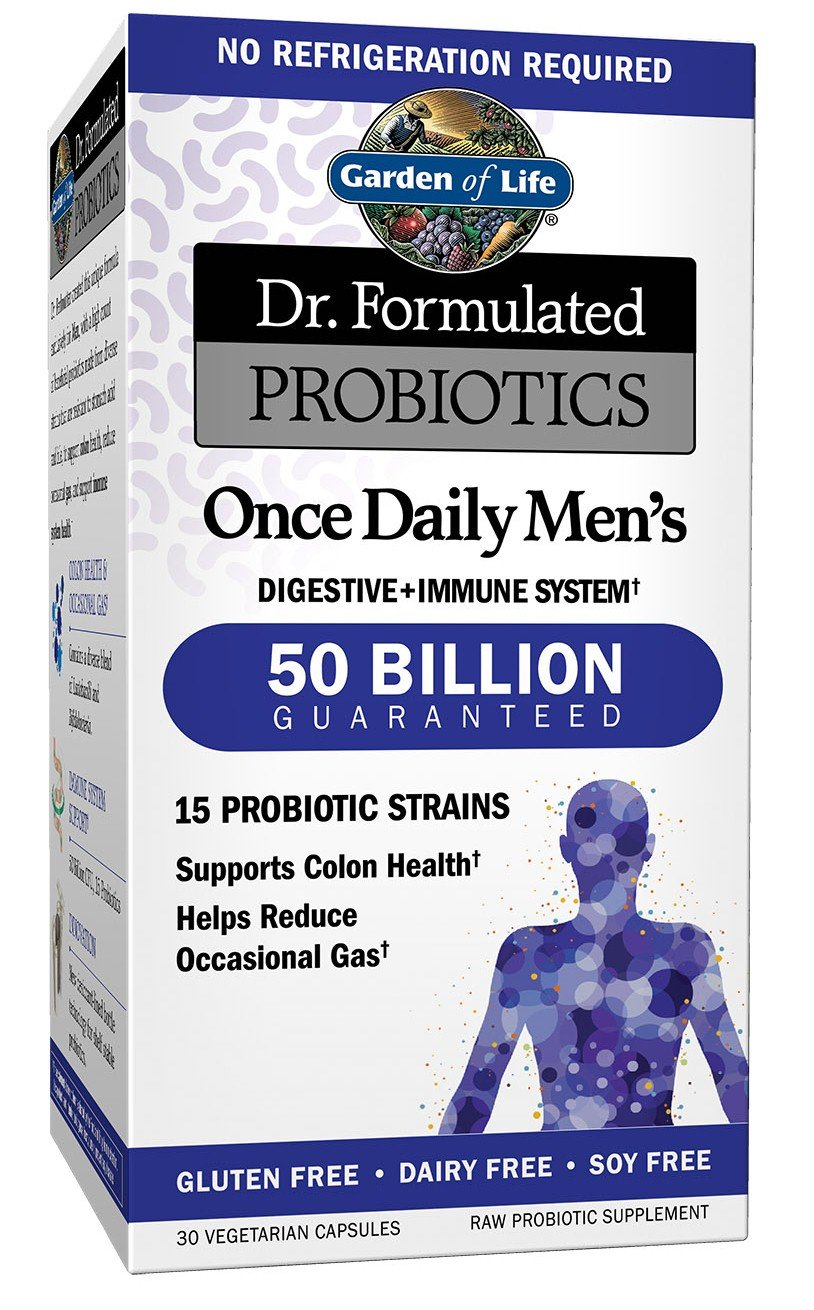 Garden of Life Probiotics Supplement for Men - Dr. Formulated Once Daily Men's for Digestive and Gut Health, Shelf Stable, 30 Capsules
