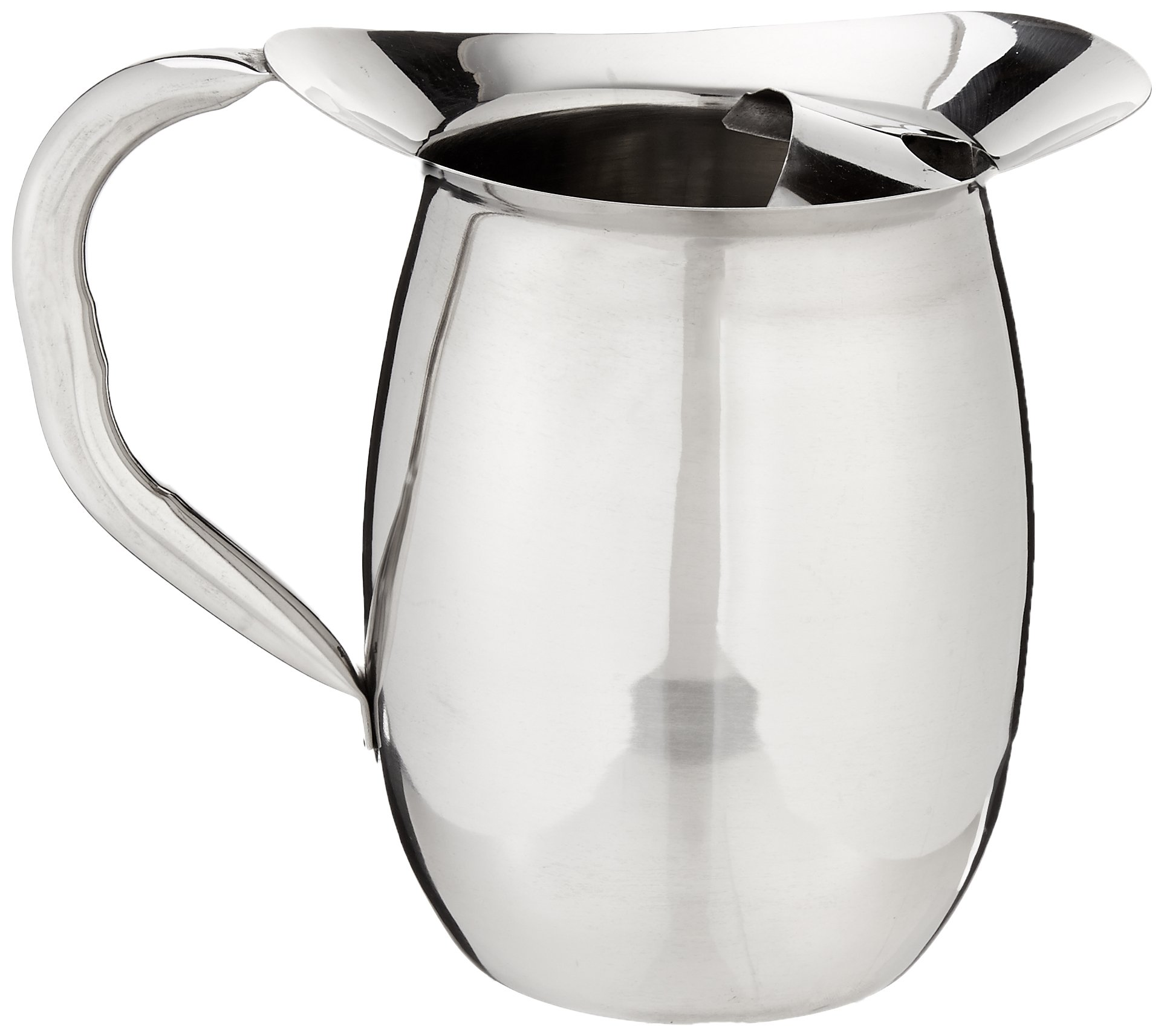 Winco WPB-2C Deluxe Bell Pitcher with Ice Catcher, 2-Quart, Stainless Steel