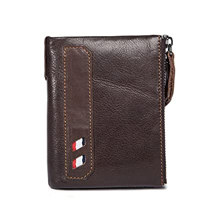 Bolsa de diseño compacto para hombres Carteras de cuero cortas de portátiles Mini negocios de cartera