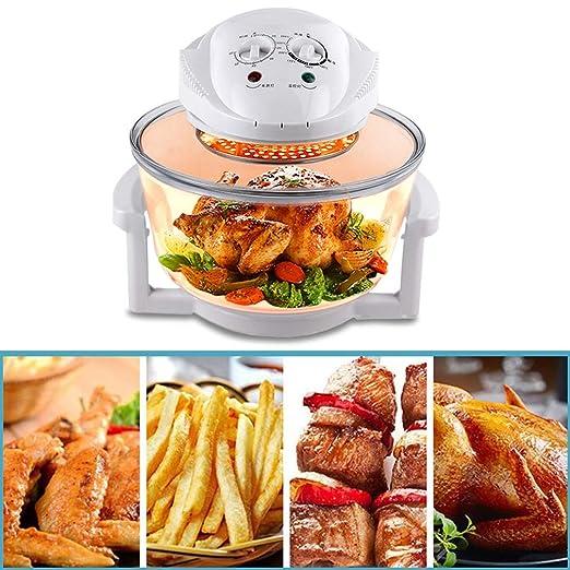 Horno halógeno con accesorios y recetas | Temperatura ajustable y ...