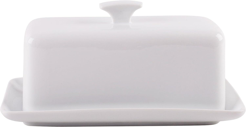 "Home Essentials 8""L Maison Cov'D Butter Dish W/Rect Finial Handle"