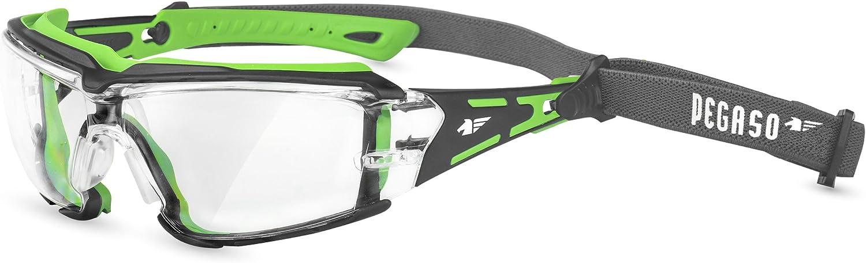 Pegaso 103.03 Gafas de Protección, Verde y Negro, L