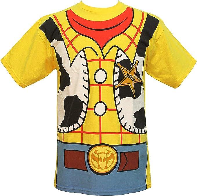 Disney Toy Story Woody Vaquero Disfraz Adulto Camiseta tee: Amazon ...